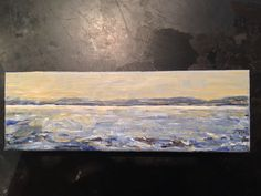 Georgian Bay - 4 x 12 acrylic - by Carla McGillivray - private collection