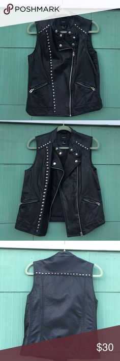 Forever 21 Studded Vest Worn once. In really great condition. Faux leather. Very stylish. Open to reasonable offers. Forever 21 Jackets & Coats Vests