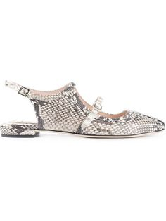 Carven python skin effect ballerinas en A.M.R. from the world's best independent boutiques at farfetch.com.