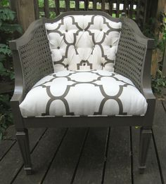 This looks almost exactly like a chair I just bought at an estate sale! Just have to pick out cool new fabric! Yippee!