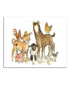 Look at this Farm Buddies Print on #zulily today!