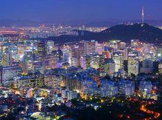 Seúl, Corea del Sur, la ciudad más poblada de la península de Corea.
