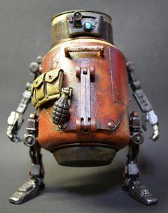 Guy Turns Cute Bunny Toy Into Battle-Hardened Mech Arte Robot, I Robot, Robot Art, Retro Robot, Mekka, Japanese Toys, Robot Design, Sylvanian Families, Bunny Toys