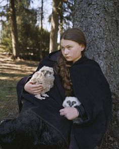 Pin for Later: This Amelia and the Animals Photo Series Demonstrates a True Mother-Daughter Bond  Robin Schwartz, Baby Horned Owls, 2011, from Amelia and the Animals (Aperture, 2014)