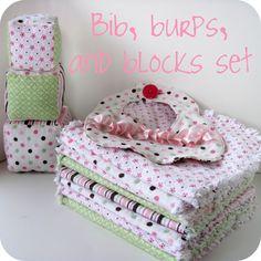 Printable Burp Cloth and Bib Template