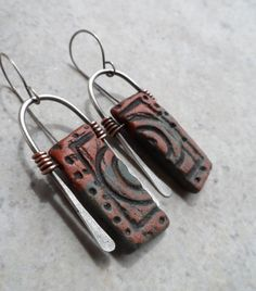 Incognito ... Sterling and Copperwrapped Ceramic by juliethelen,