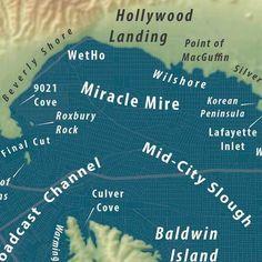 """Here's the """"Bay of LA"""" Map From a Future Drowned Los Angeles - Cool Map Thing - Curbed LA"""