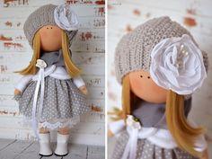 Tela muñeca Interior muñeca trapo arte muñeca por AnnKirillartPlace