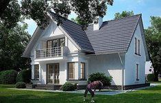 Proiecte de case mici cu mansarda. Locuinte de vis, fara risipa de bani