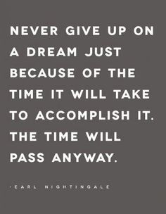 {never give up}