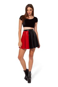 Jester Red Skater Skirt - LIMITED by Black Milk Clothing $60AUD (removed from Batman release)