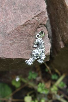 Tiger pendant, Pendant with tiger, Tiger, Tiger silver, Animalism, Style of animalism, Animalism style, Sterling silver pendant, Blacking by OnlyForDaring on Etsy