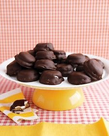 1/18 Marshmallow Day  Chocolate-Covered Marshmallow Cookies - Martha Stewart Recipes