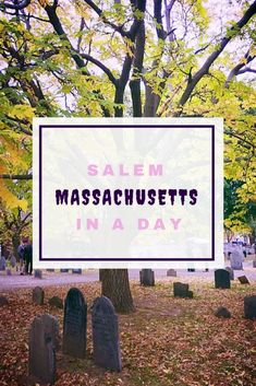Salem, Massachusetts in a day | A one day itinerary for visiting Salem, Massachusetts during Halloween season. All the spooky details of what to do and what not to do! | bonvoyagebitches.com