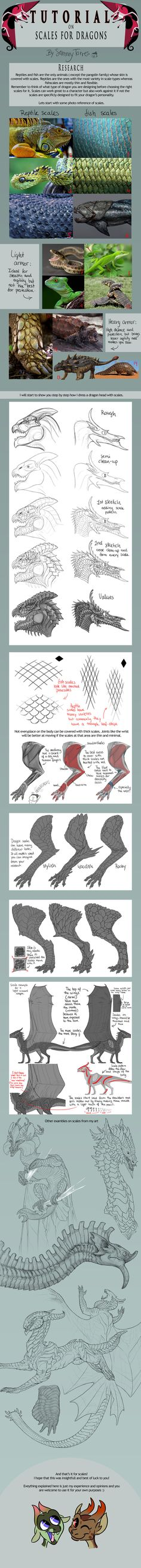 TUTORIAL: Scales for Dragons by SammyTorres on deviantART