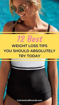 The 12 Best Weight Loss Tips You Should Absolutely Try Today - Calories and Pounds Weight Loss Plans, Best Weight Loss, Weight Loss Journey, Weight Loss Tips, Trying To Lose Weight, How To Lose Weight Fast, Natural Fat Burners, Gym Routine, Exercise Routines