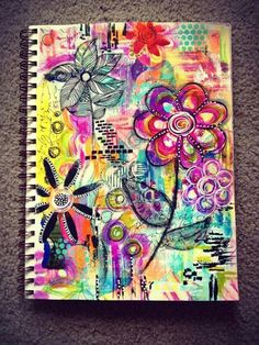 Diane's Mixed Media Art - her finished art journal ♥♥