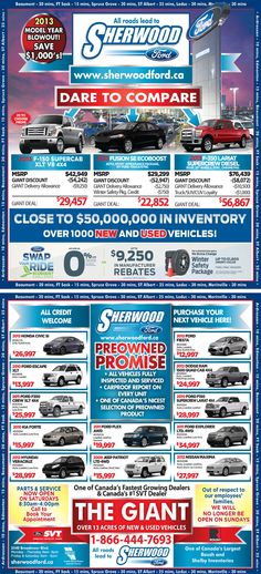 Sherwood Fords vehicle specials week of Nov.4th
