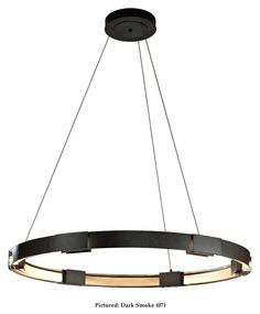 Hubbardton Forge 138589D Aura LED Large 48 Inch Wide Contemporary Ring Hanging Light - HUB-138589D
