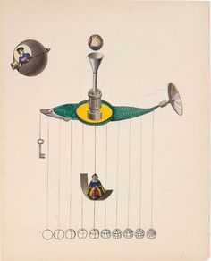 A Retrospective of Joseph Cornell's Major Works: Untitled (Flying Machines), ca. 1938