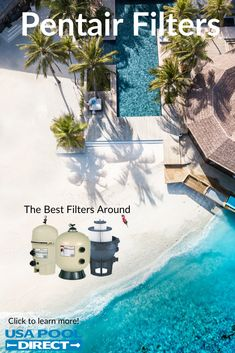 Filter out sand, dirt and other particles with the latest and greatest filters from Pentair. With their newest filter technology you will never have to worry about dirty looking water again. Keep your pool looking crystal clear! Click Visit to Buy Now! Swimming Pool Filters, Swimming Pools, Visit Usa, Pool Equipment, Cool Pools, Water, Outdoor Decor, Crystal, Technology