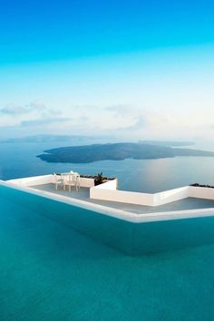 Greece The infinity pool at the Grace Santorini, which overlooks the Greek island's famed caldera view.The infinity pool at the Grace Santorini, which overlooks the Greek island's famed caldera view. Vacation Places, Vacation Destinations, Dream Vacations, Vacation Spots, Holiday Destinations, Greece Pictures, Beautiful Places To Travel, Greece Travel, Greek Islands