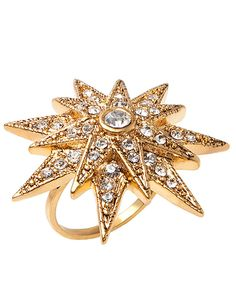 Art Deco Starburst Ring