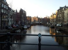 Beautiful morning in Amsterdam! So peaceful and quiet!