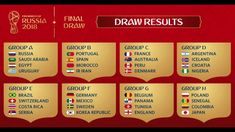 Here are your groups for the 2018 FIFA World Cup!Here are your groups for the 2018 FIFA World Cup!The next World Cup winner will be _______ World Cup 2018 Groups, Fifa World Cup 2018, World Cup Russia 2018, World Cup 2014, News Articles For Kids, Kids News, World Cup Draw, Brazil Germany, Germany Vs