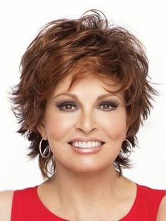 short shag hairstyle with highlights