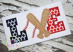 I2S Baseball LOVE #3 Applique design