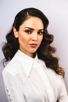 Long Hairstyles Lookbook: Eiza Gonzalez wearing Retro Hairstyle (9 of 17). Eiza Gonzalez looked absolutely darling wearing this vintage-glam curly 'do at the SXSW premiere of 'Baby Driver.'