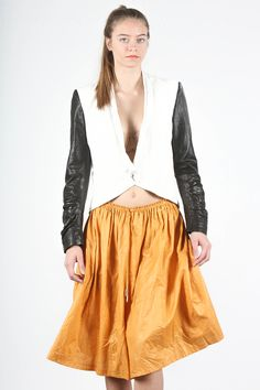 Jil Sander Yellow Skirt -- found on BIBANDTUCK.COM #Ilana