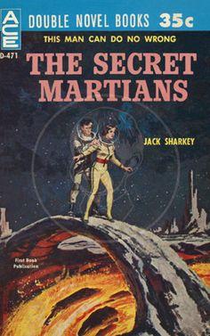 The Secret Martians - 10x16 Giclée Canvas Print of Vintage Pulp Science Fiction Paperback