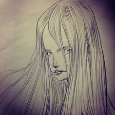 Sketch. Strong Female Characters, Sketchbooks, Illustrator, Artists, Fantasy, Ink, Anime, Painting, Beauty