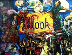 Hook is a Licensed Pinball Table based on the winter 1991 Steven Spielberg movie starring Robin Williams and Dustin Hoffman. It was designed by Tim Seckel, illustrated by Paul Faris, and released by Data East in January 1992.