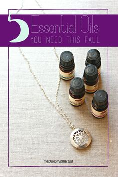 With Fall around the corner, now is the time to build a survival toolkit with some essential oils! These are my top 5 you need for Autumn plus a giveaway! http://www.thecrunchymommy.com/5-must-have-essential-oils-this-fall-giveaway/