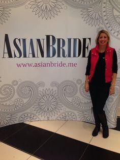 Creative Director of Fuschia, Nicola Briginshaw at the Asian Bride Bride Live Wedding a Exhibition. Hammersmith London 2013.