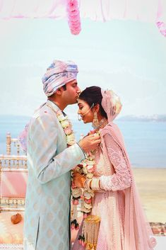 A Simple Destination Wedding In Goa With The Bride In A Stunning Baby Pink Lehenga! Check out photos, ideas & stories shared by Bride & Groom. Bride Groom Photos, Indian Bride And Groom, Wedding Poses, Wedding Couples, Wedding Story, Dream Wedding, Indian Wedding Couple, Pink Lehenga, Couple Portraits