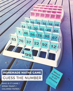 """120 Likes, 9 Comments - The Novel Classroom (@thenovelclassroom) on Instagram: """"So pleased with this one! Just finished making a 'Guess the Number' maths game, using a 'Guess…"""" #mathtutoring #mathtutoringideas"""