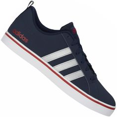 b77847f343 Tênis Adidas Pace VS Casual Masculino Azul Marinho   Prata   Vermelho Mais