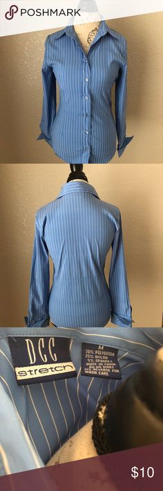 Woman's Long Sleeve Button Down Shirt - Great Condition - Looks great with a pencil skirt or dress slacks Tops Button Down Shirts