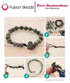 Use leather and gemstones to make this sweet bracelet with the new Dulce Vida line from TierraCast. FusionBeads.com