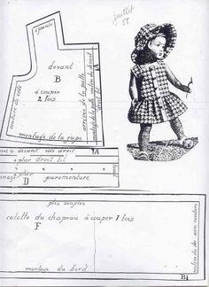 Patron poupées Modes et Travaux juillet 1958