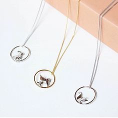 Origami Circle Necklaces - all sterling silver 925 -