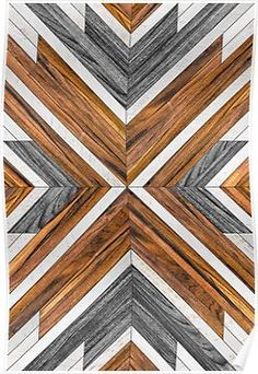 Urban Tribal Pattern 4 – with real wooden textures and steel inlays. Simple, n… Urban Tribal Pattern 4 – with Reclaimed Wood Wall Art, Wooden Wall Art, Diy Wall Art, Wood Projects, Woodworking Projects, Woodworking Plans, Youtube Woodworking, Woodworking Equipment, Workbench Plans