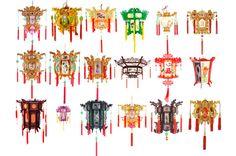 Chinese style lanterns PSD