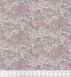 Jardin d'Eden vieux rose - Tissu coton biologique