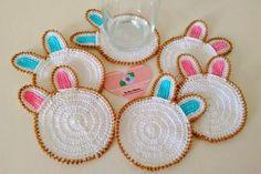 Tecendo Artes em Crochet: Porta Copos Coelhinhos Fofoletos!