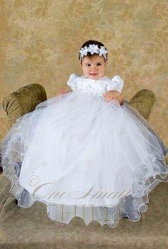 Amazon.com: Shanna Girls Christening Baptism Blessing Gowns: Clothing